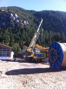 Building new Sea to Ski Gondola